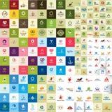 Ställ in av ielementen för logodesignvektorn för din affär stock illustrationer