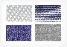 Ställ in av jeans för vektortexturtorkduken som isoleras fyra stock illustrationer