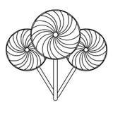 Ställ in av klubbor svartvitt royaltyfri illustrationer