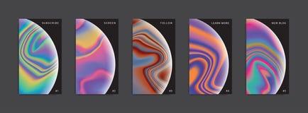 Ställ in av moderiktiga abstrakta berättelsemallar vektor illustrationer
