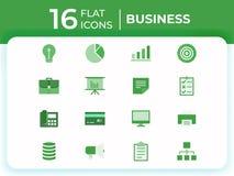 Ställ in av 16 moderna plana symboler för affär, plana affärssymboler för website, mobila apps, presentation vektor illustrationer