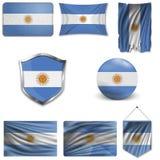St?ll in av nationsflaggan stock illustrationer