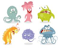 Ställ in av sagolika varelser stock illustrationer