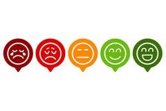 Ställ in av Smiley Emotion Ranking stock illustrationer