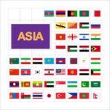 Ställ in av stämpel för världsflaggastolpe askfat 10 eps royaltyfri illustrationer