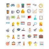 Ställ in av start och den nya affärssymbolen och symbolet stock illustrationer