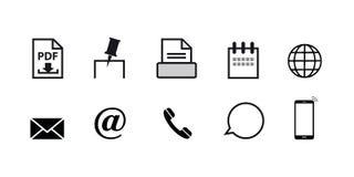 Ställ in av symbolen för kommunikation och rengöringsduk royaltyfri illustrationer