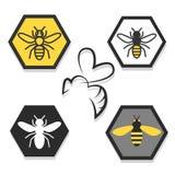 Ställ in av symboler av bin vektor illustrationer