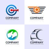 Ställ in av unika och lyxiga logoer royaltyfri illustrationer