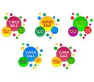 Ställ in banerförsäljningen vektor illustrationer