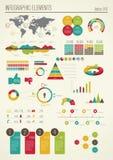 Ställ in beståndsdelar av infographicsen Royaltyfri Fotografi