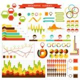 Ställ in beståndsdelar av infographicsen för designen, eps 10 Arkivbild