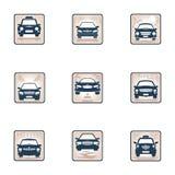 Ställ in bilsymbolen Royaltyfri Bild