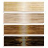 Ställ in brädena av olikt trä pläterad durk spelrum med lampa Trä texturerar illustration royaltyfri illustrationer