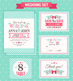 ställ in bröllop också vektor för coreldrawillustration Royaltyfri Bild
