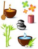 ställ in brunnsortsymbolbehandling stock illustrationer