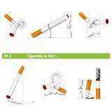 """Ställ in cigarett eller livâ""""– 2 Royaltyfri Bild"""