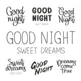 Ställ in citationstecken om Goodnight royaltyfri illustrationer
