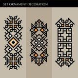 Ställ in den lyxiga garneringmalljapanen, calligraphic, arabisk aztec elegant prydnad Affärstecken, identitet för royalty, Bouti Arkivfoto