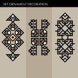 Ställ in den lyxiga garneringmalljapanen, calligraphic, arabisk aztec elegant prydnad Affärstecken, identitet för royalty, Bouti Arkivfoton