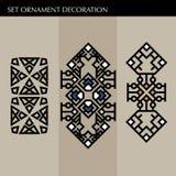 Ställ in den lyxiga garneringmalljapanen, calligraphic, arabisk aztec elegant prydnad Affärstecken, identitet för royalty, Bouti Arkivbilder