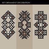 Ställ in den lyxiga garneringmalljapanen, calligraphic, arabisk aztec elegant prydnad Affärstecken, identitet för royalty, Bouti Arkivbild