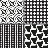 Ställ in den sömlösa modellen för geometri. Vektorillustration EPS 8 Royaltyfria Bilder