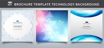 Ställ in designen för mallteknologiräkningar vektor illustrationer