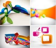 Ställ in designen för orienteringen 3D Arkivfoton