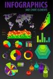 Ställ in element av infographicsen. Royaltyfri Fotografi