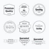 Ställ in etiketter med band och etiketter Arkivbild