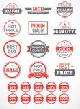 Ställ in etiketter och klistermärkear Arkivbild