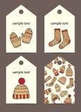 ställ in etikettsvektorn stock illustrationer