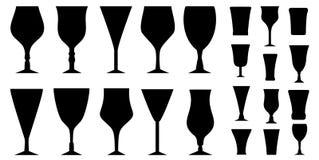 Ställ in exponeringsglas för alkoholdryck Royaltyfri Foto
