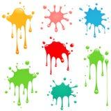ställ in färgstänkvektorn stock illustrationer
