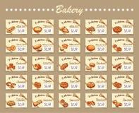 Ställ in för bageri Royaltyfri Foto