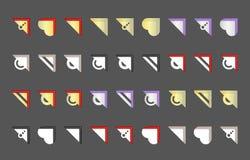 Ställ in för garnering av foto vektor illustrationer