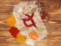 Ställ in för grönsakpaella, pilaff, risotto Arkivfoton