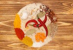 Ställ in för grönsakpaella, pilaff, risotto Royaltyfria Bilder
