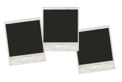 Ställ in för polaroidfotoet för tappning ögonblickliga ramar Arkivbilder