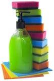 Ställ in för renlighet och beställning, isolat Arkivfoto