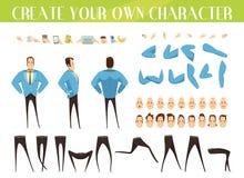 Ställ in för skapelse av affärsmannen royaltyfri illustrationer