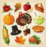 Ställ in för tacksägelsedag stock illustrationer