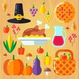 Ställ in för tacksägelsedag royaltyfri illustrationer