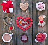 Ställ in för valentins dag Arkivbild