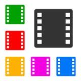 Ställ in filmsymbolen - vektor stock illustrationer