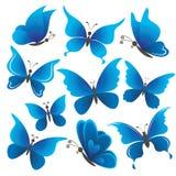 Ställ in fjärilar Arkivbild