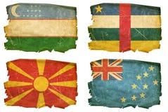 Ställ in flaggor gammala nr. 35 Royaltyfria Bilder