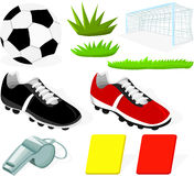 ställ in fotboll Royaltyfri Bild