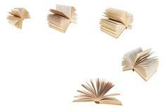 Ställ in från den fläktade gamla boken Arkivbilder